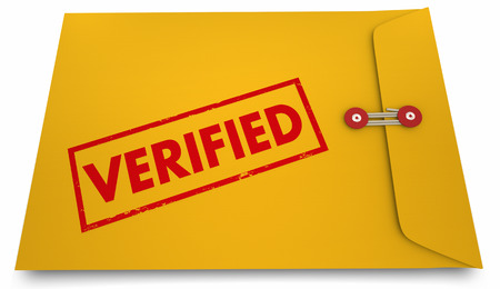 verifying: Verified Certified Stamped Envelope Approval 3d Illustration Stock Photo