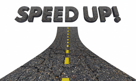 Speed Up Fast Rapid Response Quick Action Road 3d Illustration