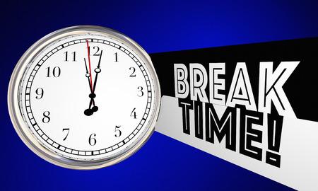 休憩時間時計リラックス 3 d イラストレーションを動作を停止 写真素材