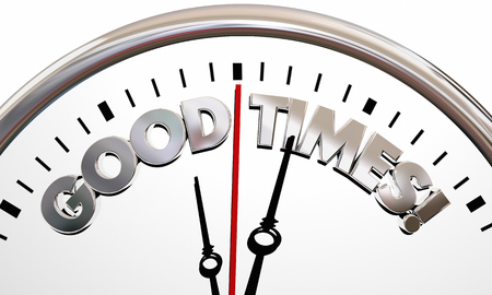 yourself: Good Times Enjoy Yourself Have Fun Clock 3d Illustration Stock Photo