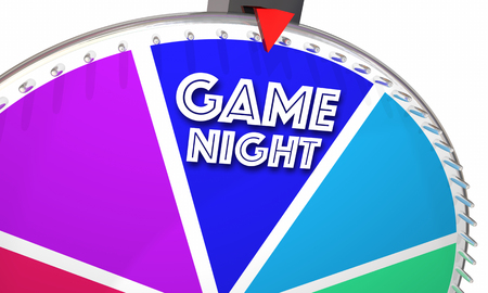wager: Game Night Show Wheel Spinning Fun Playing 3d Illustration Stock Photo
