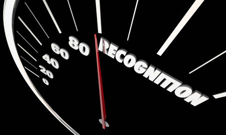 Recognition Appreciation Recognized Speedometer 3d Illustration