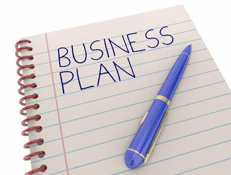 kugelschreiber: Business Plan Neue Unternehmen Strategie Notepad Pen 3d Illustration