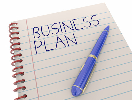 notebooks: Business Plan New Company Strategy Notepad Pen 3d Illustration Stock Photo