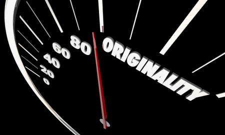Originality New Creative Imagination Ideas Speedometer 3d Illustration Stock Photo