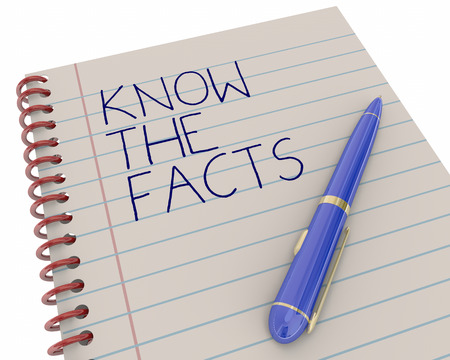 Know the Facts Research Information Learn Pen Writing Words 3d Illustration Stock Photo