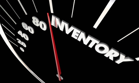 Inventory Product Stock Available Merchandise Speedometer 3d Illustration
