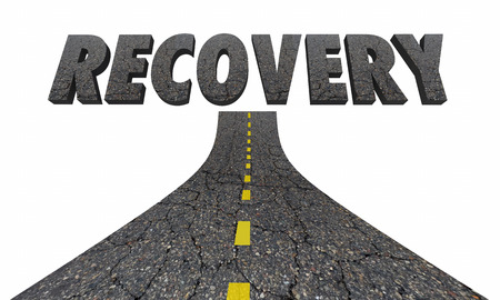 Road to Recovery Getting Better Improvement 3d Illustration Stock Photo