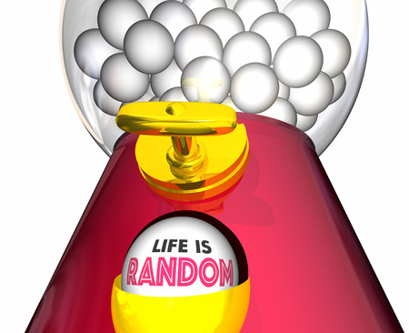 Life is Random Gumball Machine Words 3d Illustration Stock Photo