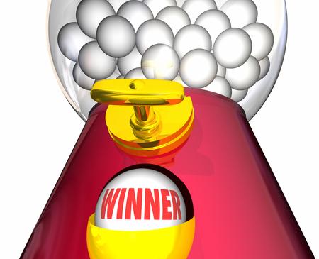 chosen one: Winner Gumball Machine Lucky Winning Ball 3d Illustration