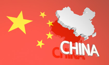 China Country Nation Map Europe 3d Illustration