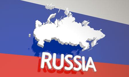 러시아 국가 국가지도 유럽 3d 일러스트 스톡 콘텐츠
