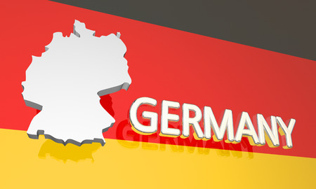 Germany Country Nation Map Europe 3d Illustration Stock Photo