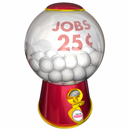 Jobs Gumball Machine Get Hired Lucky 3d Illustration