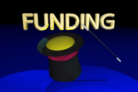 conjuring: Funding Magic Hat Wand Money Financing 3d Illustration