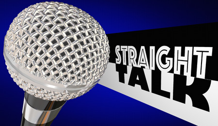 Straight Talk Radio Chat Show Microphone 3d Illustration