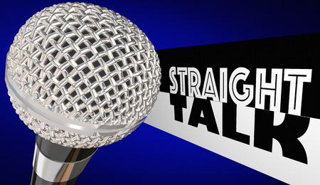 Straight Talk Radio Chat Show Microphone 3d Illustration