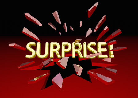 breaking: Surprise Shock Word Breaking Red Glass 3d Illustration