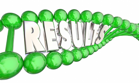 DNA Test Results Genetic Testing Ancestry 3d Illustration 版權商用圖片