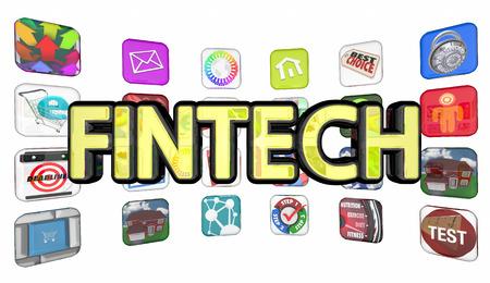 Fintech Finance Technology Apps Programs Software 3d Illustration
