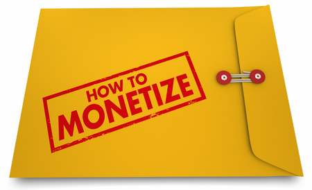 How to Monetize Words Stamp Yellow Envelope Secrets 3d Illustration Imagens