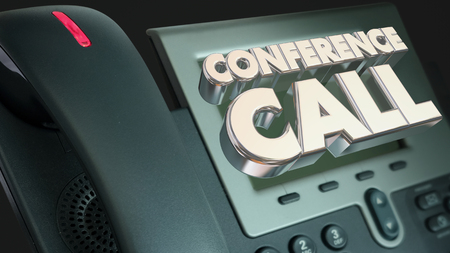 Conference Call Telephone Words Meeting Scheduled 3d Illustration