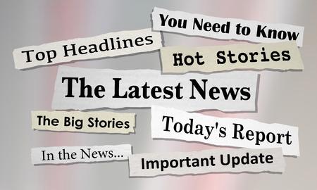The Latest News Headlines Information Updates 3d Illustration