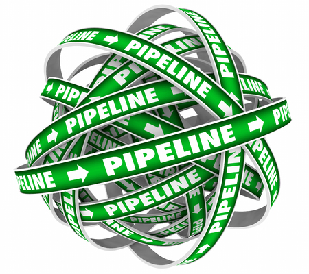 Pipeline Sales Cycle Funnel System Procedure 3d Illustration Stock Photo