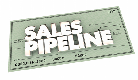 wort: Verkauf Pipeline Check Selling Perspektiven Geld verdienen 3d Illustration Lizenzfreie Bilder