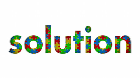 Solution Problem Solved Puzzle Pieces Fixed Problem Task 3d Illustration
