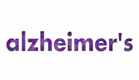 Alzheimers Disease Puzzle Pieces Health Care Treatment Condition 3d Illustration Stock Photo