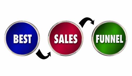 converting: Best Sales Funnel Steps Customer Selling Process 3d Illustration