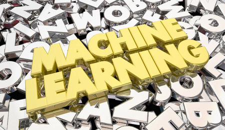 skill: Machine Learning Letters Words Artificial Intelligence 3d Illustration
