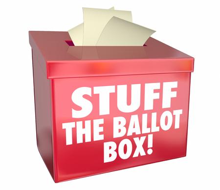 談合選挙もの投票箱の投票不正投票の 3 d 図