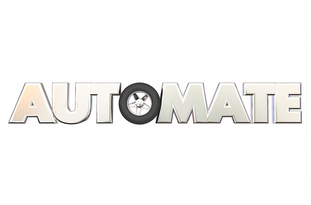 better: Automate Car Wheel Rolling Tire Automation Word 3d Illustration