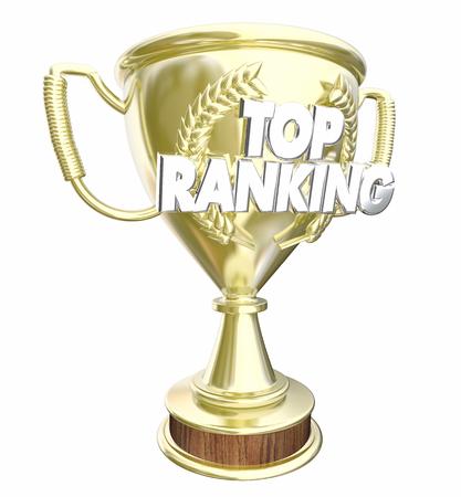 최고 랭킹 트로피 상상 최고의 결과 3d 일러스트