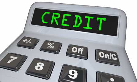 Your Credit Score Rating Calculator Figure Out 3d Illustration Фото со стока - 77188477