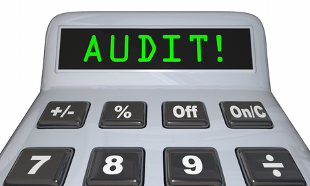 Audit Financial Review Accounting Calculator 3d Illustration Stock Photo