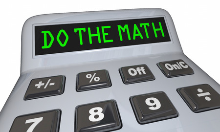 figuring: Do the Math Solve Problem Calculator Words 3d Illustration