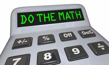 Do the Math Solve Problem Calculator Words 3d Illustration