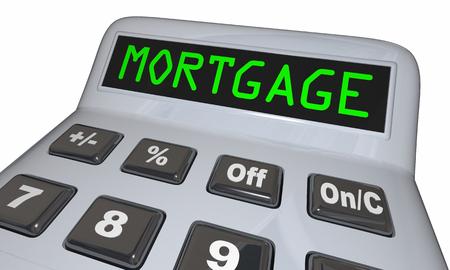 borrower: Mortgage Calculator Figure Loan Amount 3d Illustration