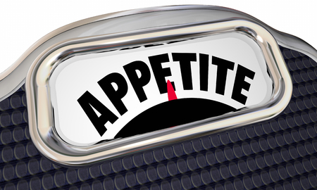 Appetite Scale Curb Hunger Diet Lose Weight 3d Illustration Stock Photo