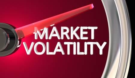 Market Volatility Gauge Speedometer Measure Risk Danger 3d Illustration Reklamní fotografie