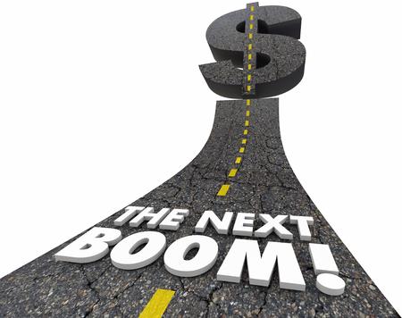 The Next Boom Big Huge Jackpot Market Opportunity Road 3d Illustration