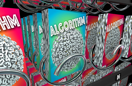 acquire: Algorithm Vending Machine Buy Math Problem Solution 3d Illustration Stock Photo