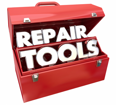 damaged: Repair Tools Fix Toolbox Solve Problem 3d Illustration