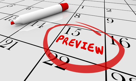 Preview Coming Soon Calendar Day Date Plan Schedule 3d Illustration