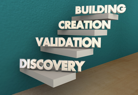 Customer Discovery Verification Creation Building Steps 3d Illustration