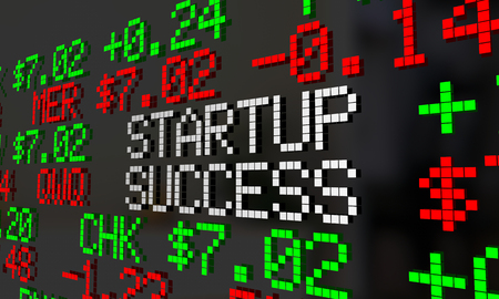 new ipo: Startup Success New Compnay IPO Stock Market Ticker 3d Illustration