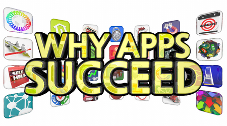 Why Apps Succeed Software Downloads Popularity 3d Illustration Stok Fotoğraf